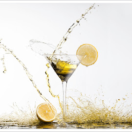 Citrus flashed splash by Andy Perron - Food & Drink Alcohol & Drinks ( photoshop art, liquid, citrus, splash, yellow )