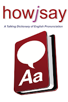 Screenshot of howjsay English Pronunciation