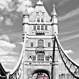 London walk by Ciprian Apetrei - City,  Street & Park  Street Scenes ( london, selective color, bridge, street scene, street photography,  )