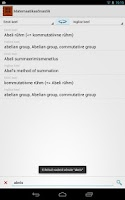Screenshot of Matemaatikasõnastik