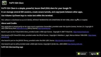 Screenshot of PuTTV SSH Client