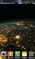Screenshot of Earth at night HD