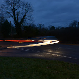 light trails.  by Will Hutt - Digital Art Things