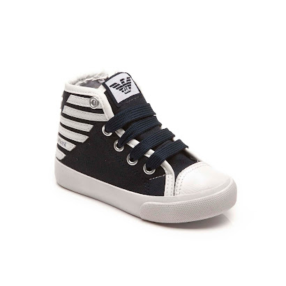 Armani Toddler Canvas High Top HI-TOP
