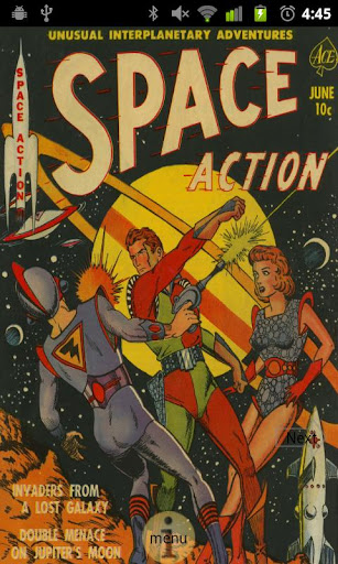 Space Action Comic Book 1