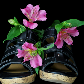 Spring in my step. by Dipali S - Artistic Objects Clothing & Accessories ( shoes, decorative, accessory, footwear, clothing, artistic, sandal, handmade, object )