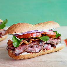 Sliced Steak Club Sub with Horseradish & Herb Sauce