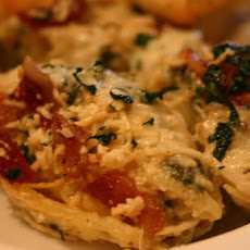 Stuffed Shells With Crispy Pancetta and Spinach