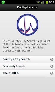 AHCA Mobile Facility Locator - screenshot