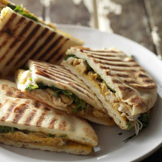 Roasted Chicken and Arugula Panini