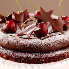 Amaretti Chocolate Cake With Chocolate Dipped Cherries