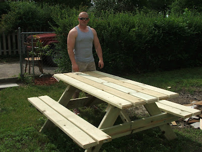 How Does Your Garden Grow Summertime Blues - Picnic table hardware kit