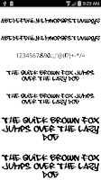 Screenshot of Fonts for FlipFont Graffiti