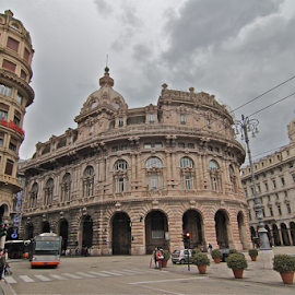 by Felice Bellini - Buildings & Architecture Office Buildings & Hotels ( liberty, palazzo della borsa, piazza de ferrari, genova, italy )