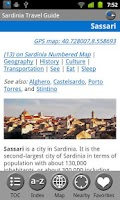 Screenshot of Sardinia - FREE Travel Guide