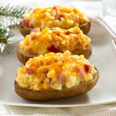 Twice-baked Potatoes With Ham
