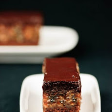Orange Sesame Crunch Brownie