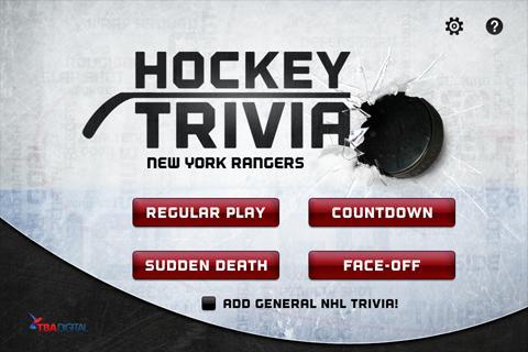 Hockey Trivia-Rangers