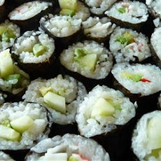 Cucumber and Avocado Sushi