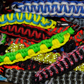 Para Cord Bracelets  by Lorie  Carpenter  - Artistic Objects Jewelry ( bright, bracelets, colors, artistic, cord, objects, para, colorful, mood factory, vibrant, happiness, January, moods, emotions, inspiration )