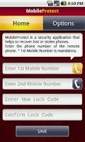 Screenshot of MobileProtect