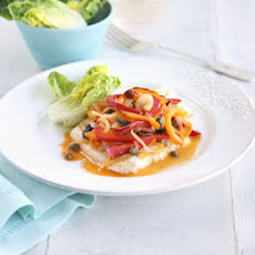 Lemon Butter Fish With Peperonata