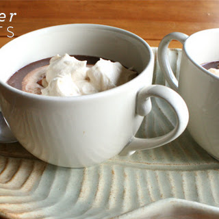 Thick Hot Chocolate with Salted-Caramel Whipped Cream