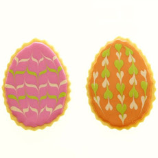 Marbleized Easter Egg Cookies