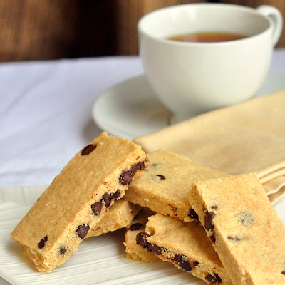Espresso Chocolate Chip Shortbread Cookies