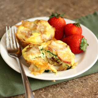 Cheesy Egg Potato and Spinach Mini Quiches