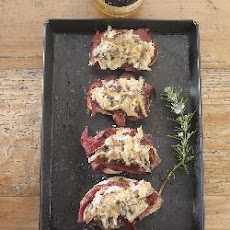 Smoked Venison And Wild Mushroom Toast