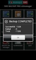 Screenshot of SMS BACKUP PRO n2manager