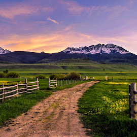 Gore Range Evening by Levi Oelrich - Landscapes Mountains & Hills ( mountains, sunset, colorado, country life, landscape,  )