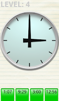 Screenshot of Clock Time Quiz