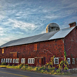 Farm Life by Diane Clontz - Novices Only Landscapes ( copake, vacation, fall colors, barn, sunset, rurallife, newyork )