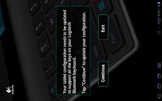 Screenshot of Logitech Keyboard Config App