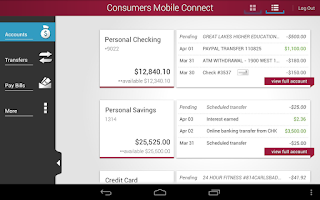 Screenshot of Consumers National Bank