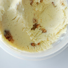 Vanilla-Bourbon Walnut Crumble Ice Cream
