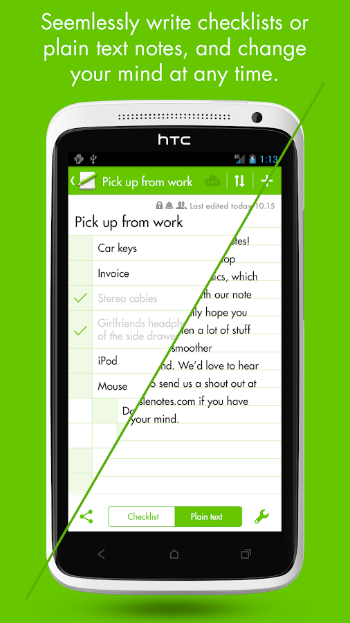 MobisleNotes - Notepad Screenshot 1