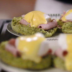 Eggs Benedict with Spinach Muffins