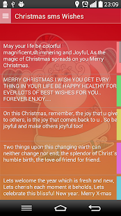 Christmas Sms Wishes - screenshot