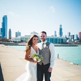 Lake Michigan Love by Jess Anderson - Wedding Bride & Groom ( nx1, weddingphotography, weddingday, wedding, chicago, jessica anderson, ditchthedslr, mchenryphotography.com, weddingphotographer, imagelogger, photography )