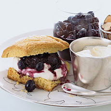 Blueberry-Almond Shortcakes with Crčme Fraîche