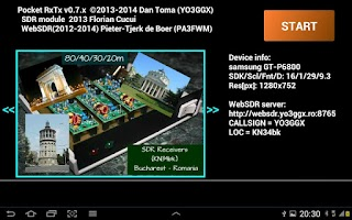 Screenshot of Pocket RxTx