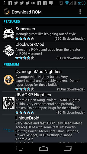 rom-manager for android screenshot
