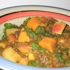 Pumpkin Curry with Lentils and Apples