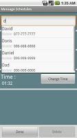 Screenshot of Message Schedules