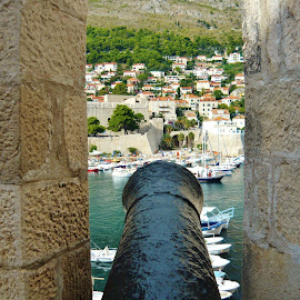 DUBROVNIK by Wojtylak Maria - City,  Street & Park  Historic Districts ( fortress, croatia, town, historic, cannon )