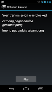 Cebuano Aircrew Phrases - screenshot