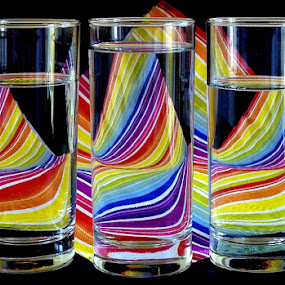 Swaying rainbow by Jasminka Lunjalo - Artistic Objects Glass ( jasminka, colors, croatia, zagreb, watter )